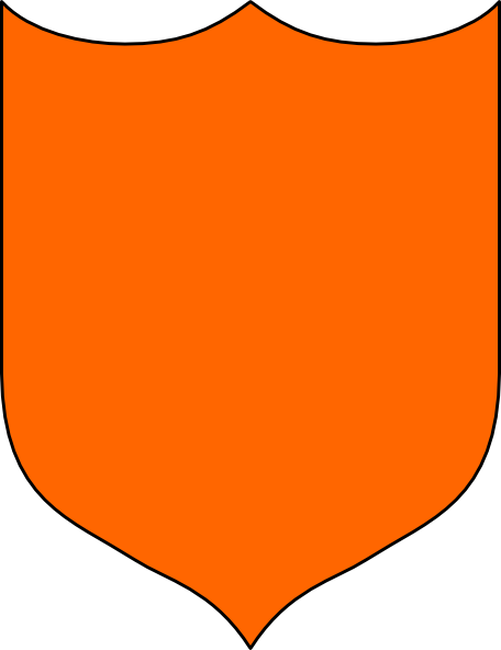 456x592 Shield Orange Clip Art