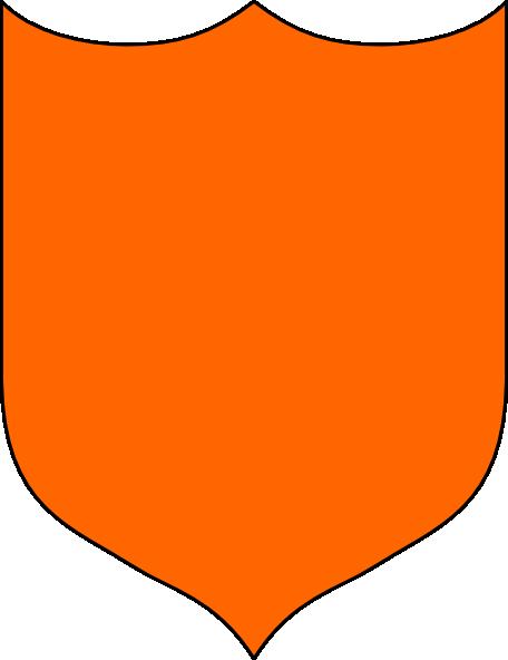 456x592 Shield Orange Clip Art