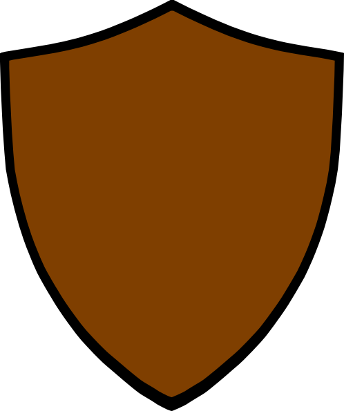 498x595 Brown Clipart Shield