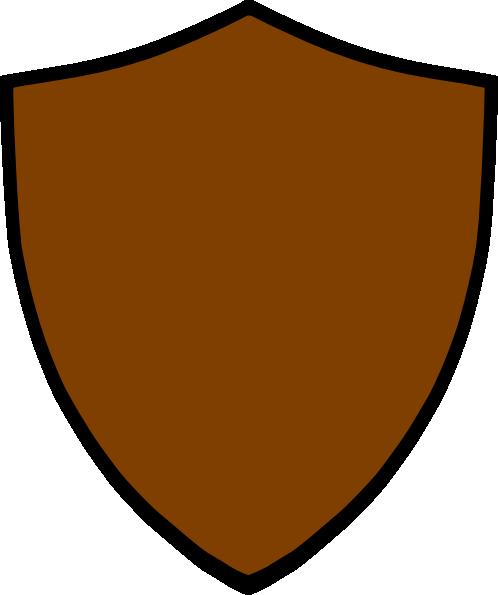 498x595 Brown Clipart Shield