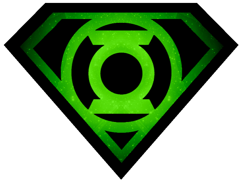 825x626 Superman Glowing Green Lantern Shield By Kalel7