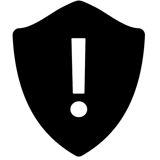 540x540 Warning Shield Icon