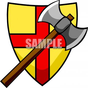 350x349 Battle Shield Clipart