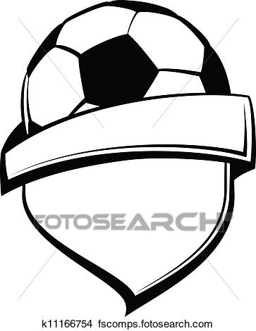 363x470 Clipart Of Soccer Shield K11166754