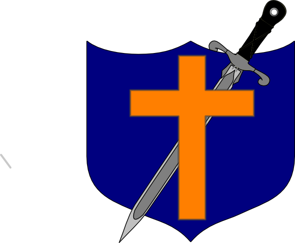 600x495 Cross Sword And Shields Clipart
