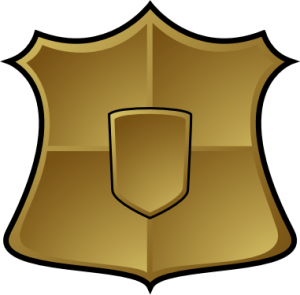 300x295 Gold Shield Clip Art Download