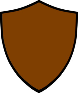 249x298 Shield Brown Clip Art
