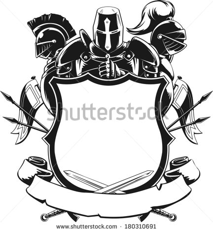 432x470 Knightly Shield Clipart