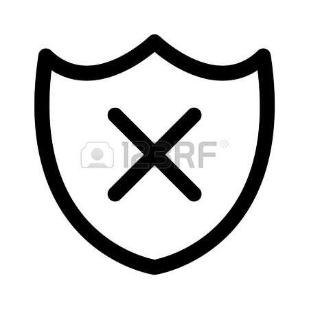 450x450 Security Shield Confirmation Check Line Icon For Apps And Websites