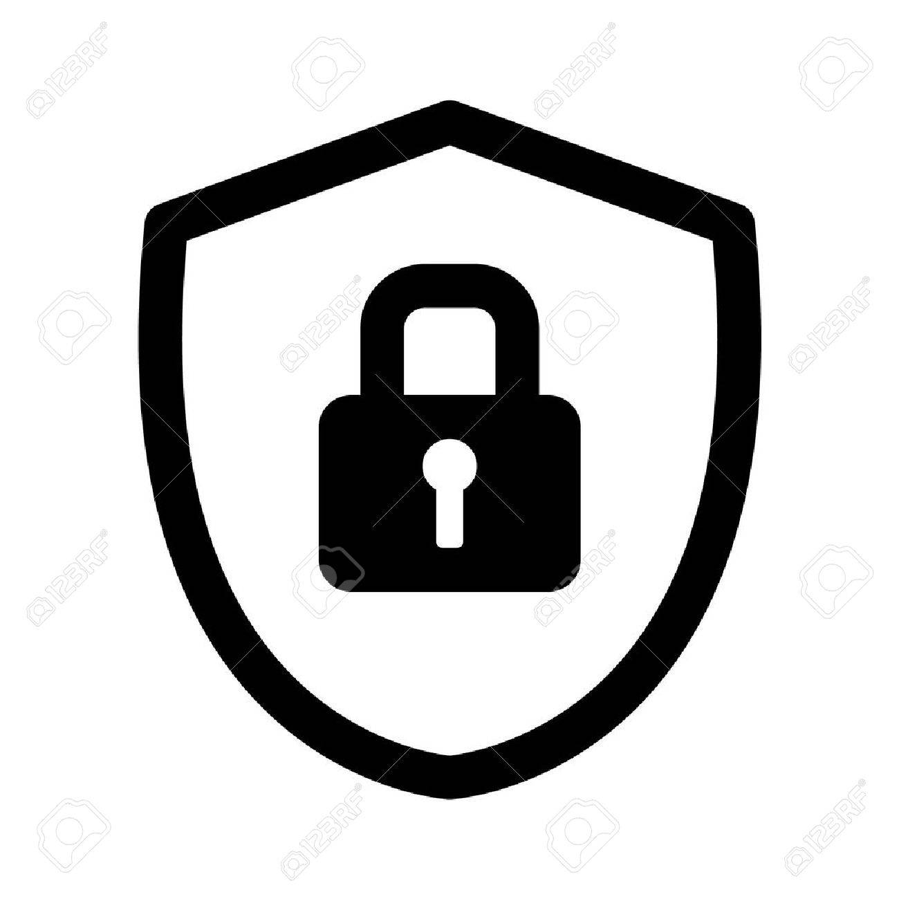 1300x1300 Security Shield Lock Line Art Icon For Apps And Websites Royalty