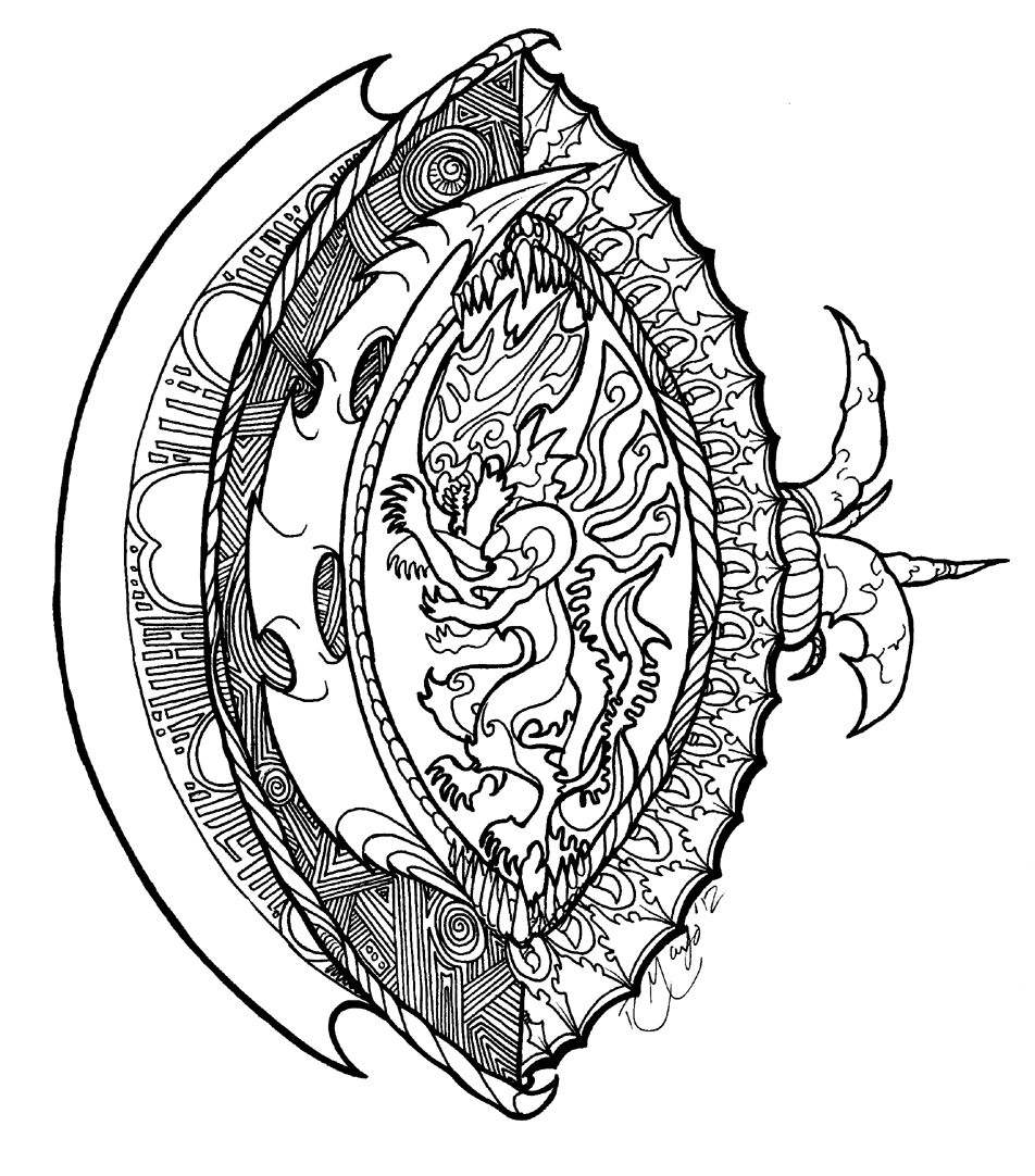 952x1082 Avp Crest Shield Lineart By Rachaelm5