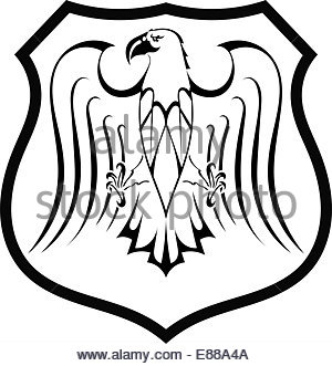 300x331 Tribal Tattoo Eagle Shield Vector Art Stock Vector Art
