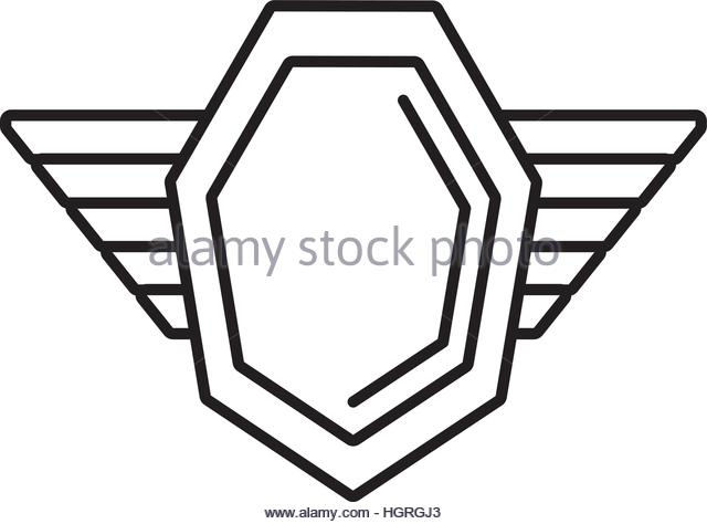 640x474 Empty Blank Emblem Badge Shield Stock Vector Images