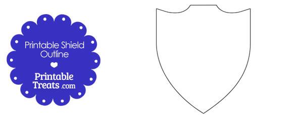 610x229 Printable Shield Outline — Printable
