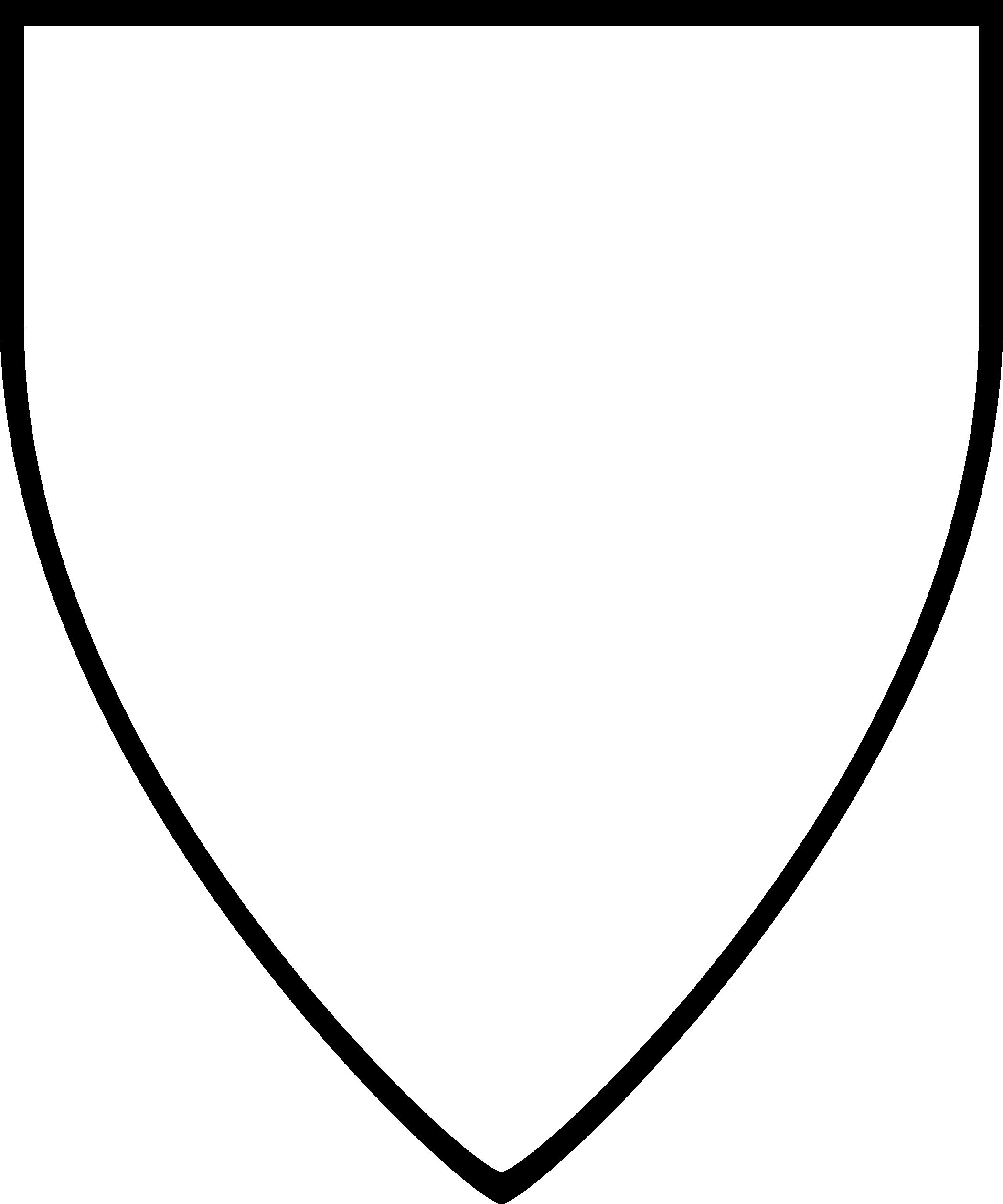 2100x2520 Shield Outline Clipart Panda