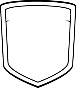 258x298 Shield Outline Clipart
