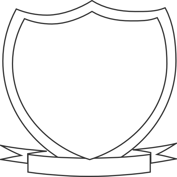 594x595 Shield Outline Clipart