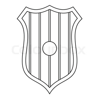 320x320 Shield With Cross Icon. Outline Illustration Of Shield With Cross