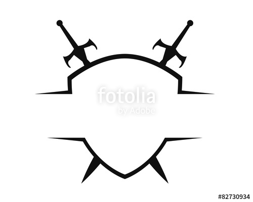 500x400 Sword Amp Shield Logo Template Stock Image And Royalty Free Vector