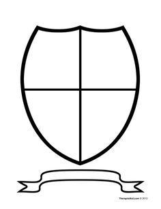 236x306 Coat Of Arms Pattern. Use The Printable Outline For Crafts
