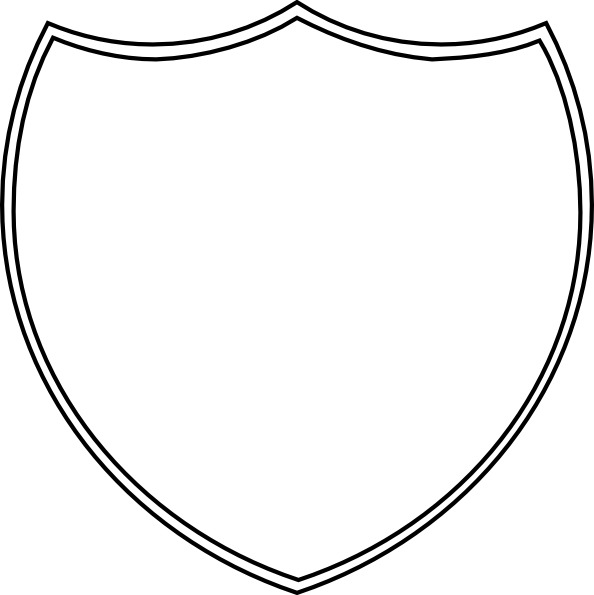 594x595 Double Shield Outline Clip Art
