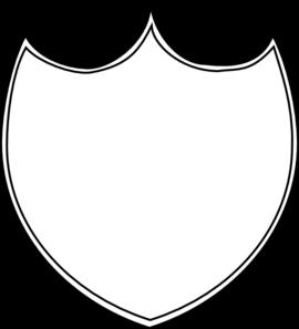 270x297 Double Shield Outline Modified Clip Art