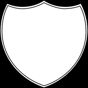 297x298 Double Shield Outline Clip Art