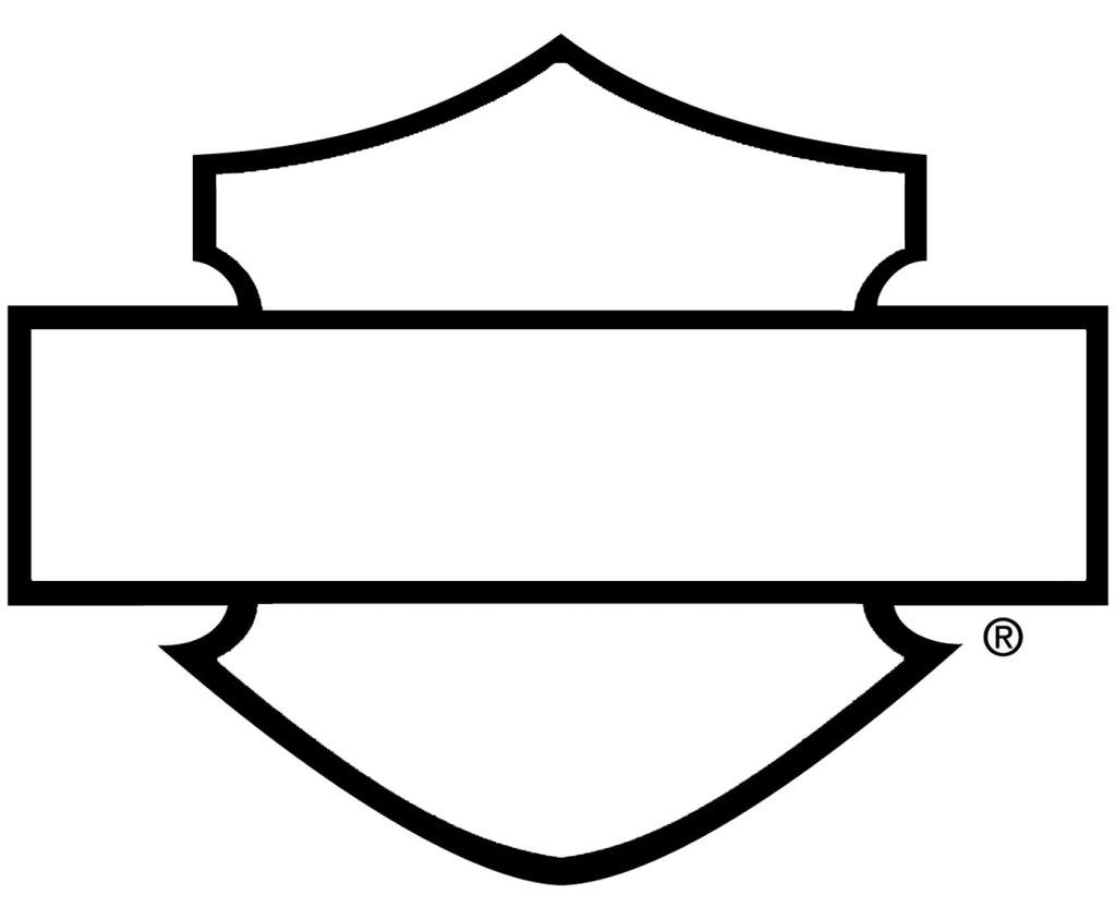 1024x843 Harley Davidson Logo Outline