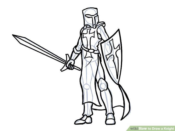 728x546 How To Draw A Knight (With Pictures)