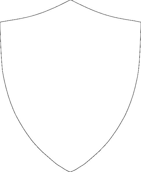 486x594 Shield Outline Clip Art