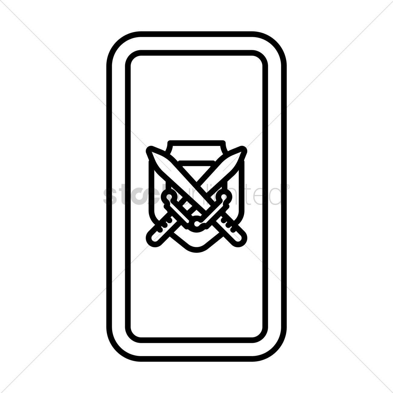 1300x1300 Shield With Crossed Swords Vector Image