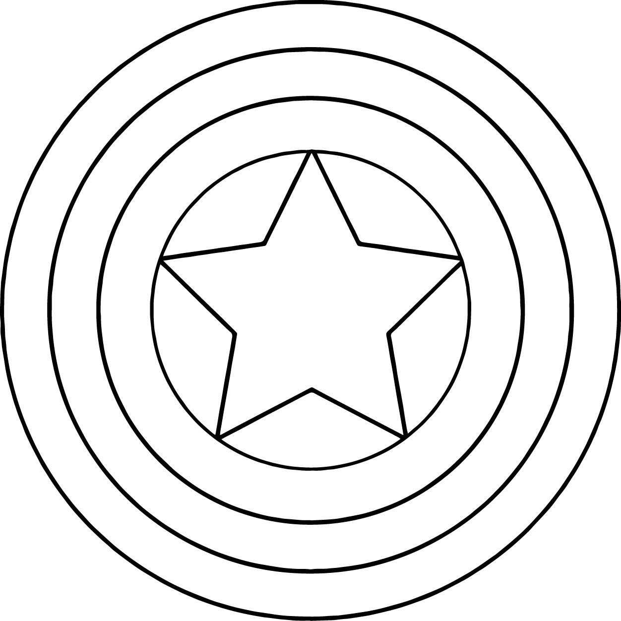 1252x1252 Captain America Shield Coloring Pages