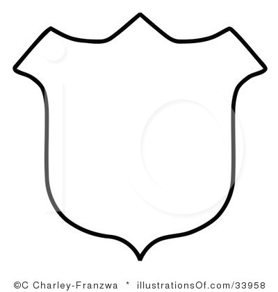 400x420 Clipart Shields Outlines Collection