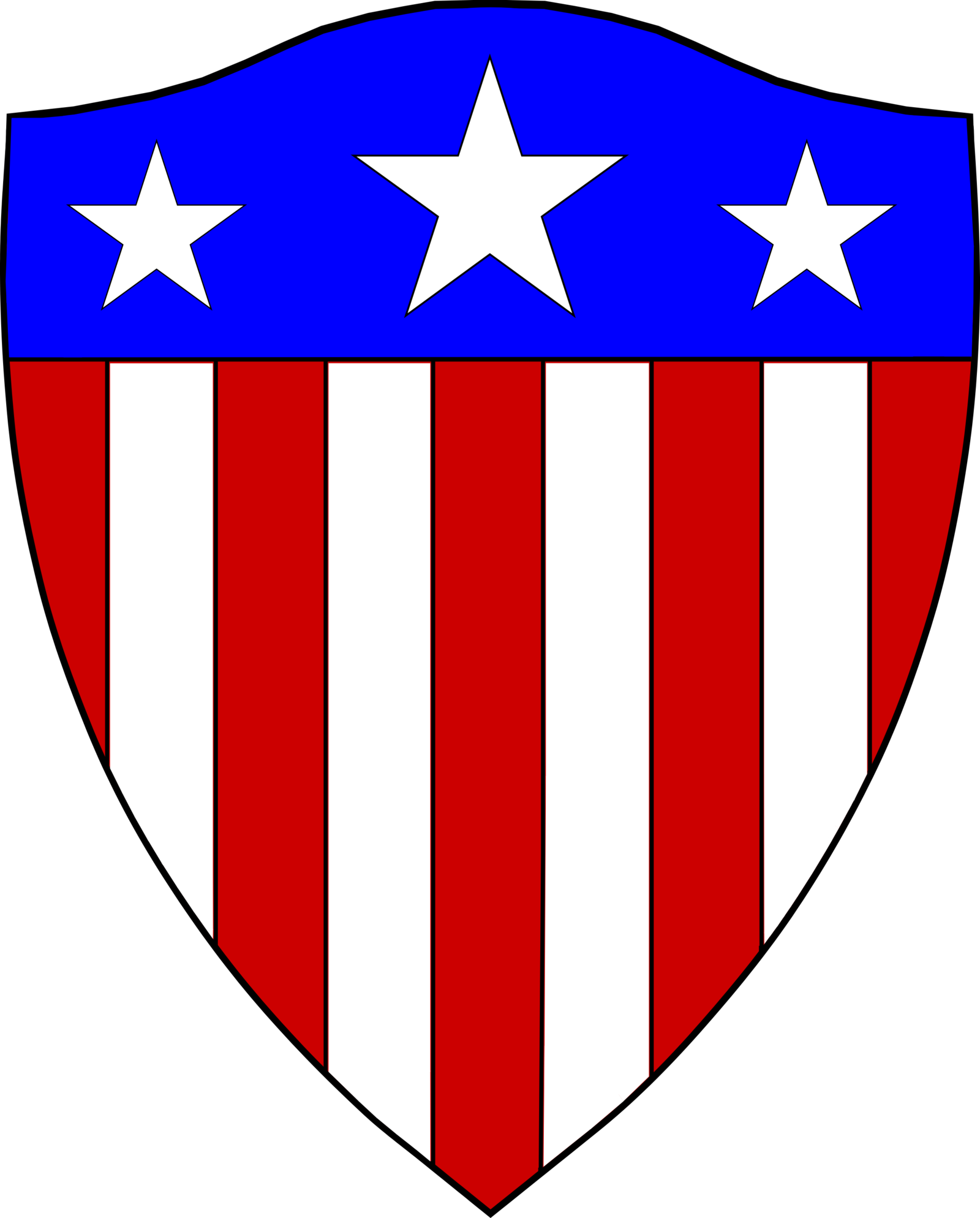1600x1988 American Flag Clipart Shield