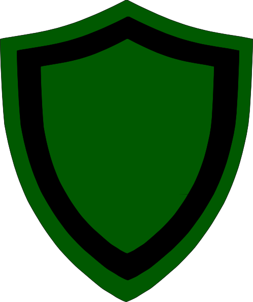 498x596 Green Black Shield Clip Art