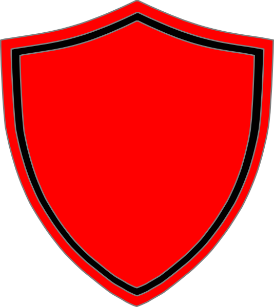 534x600 Red Shield With Black Border Clip Art