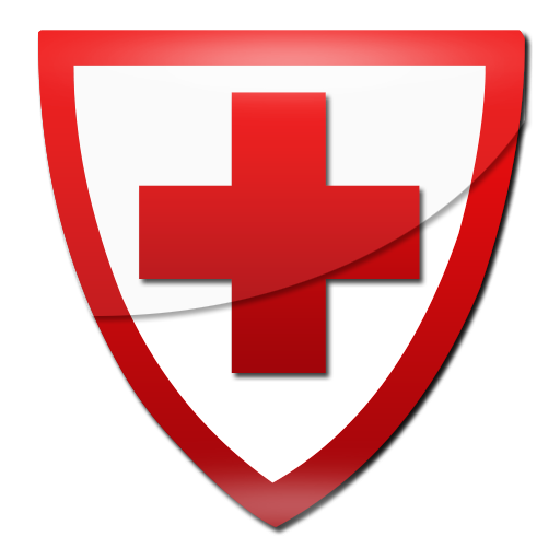512x512 Red Cross Shield Clipart Image