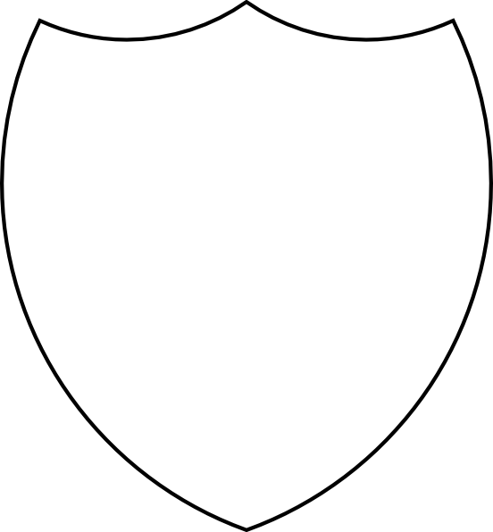552x596 Shield Outline Clipart