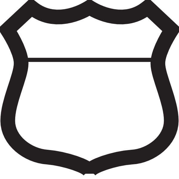 600x600 Highway Shield Clipart