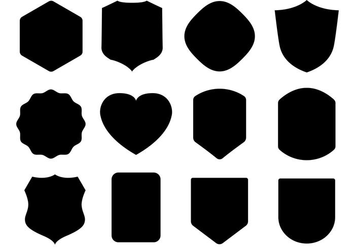 700x490 Free Black Shield Vectors