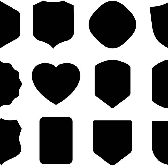 650x650 Free Vector Free Black Shield Vectors