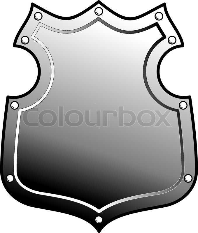 679x800 Metal Heraldic Shield. Armorial Symbol. Isolated Illustration
