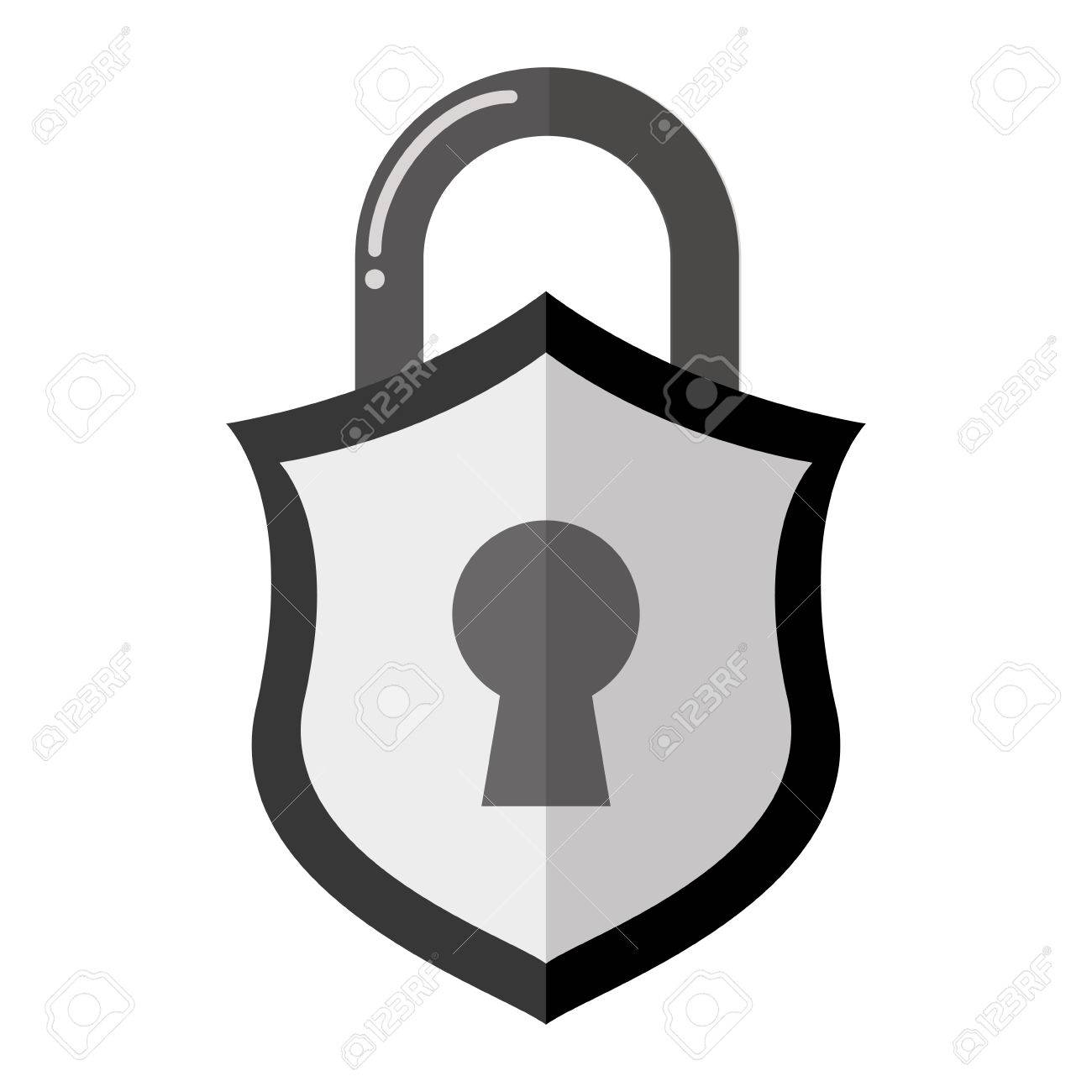 1300x1300 Padlock Security Shield Vector Icon Illustration Graphic Design