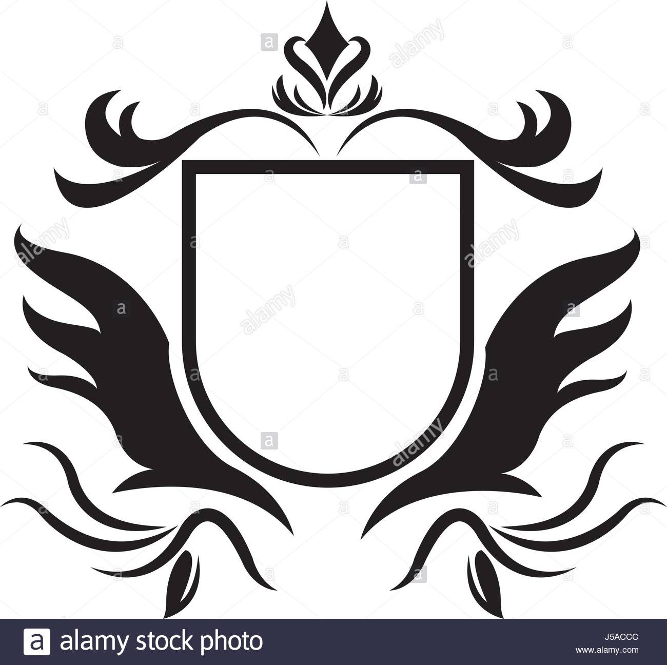 1300x1296 Decorative Shield Heraldry Victorian Elegant Frame Stock Vector