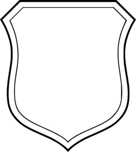 267x299 Blank White Shield Clip Art