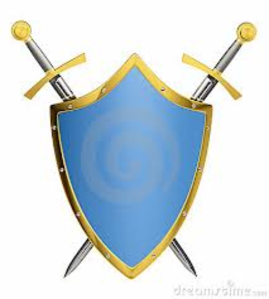 539x600 Cross Sword And Shields Clipart 2080571