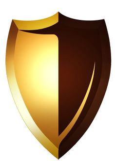 236x332 Gold Shield Clip Art
