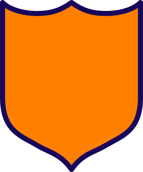 498x600 Orange Shield Clip Art