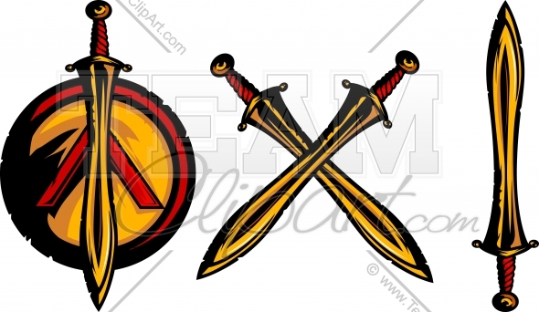 590x342 Spartan Sword Clipart Image. Easy To Edit Vector Format.