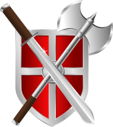 378x425 Sword Battleaxe Shield Clip Art Vector, Free Military Vectors
